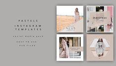 Pastel Instagram Template Social Media Pack Instagram Pack