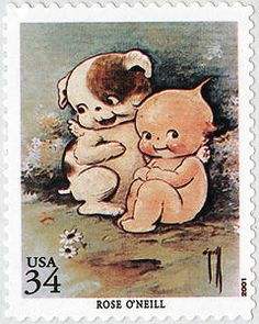 Kewpie and Kewpie Doodle Dog by children's author Rose O'Neill.  Issued 1 February 2001.