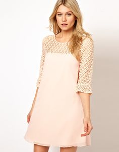 Swing Dress With Lace Detail