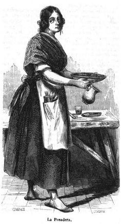 El vocabulario 1: posadera; Persona que posee o regenta una posada