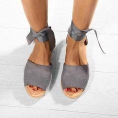 Platform Lace-up Summer Sandals Espadrille Sandals, Espadrilles, Types Of Shoes, Lace Up, Platform, Pairs, Summer Sandals, Color, Fashion