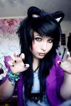 scene/emo adorable marry me Nu Goth, Piercing Tattoo, Piercings, Tumblr Emo, Pelo Emo, Goth Make Up, Cute Emo Girls, Emo Boys, Emo Scene Hair