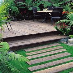 We love this Weathered Vintage composite decking! You would never guess it hadn't been there for 100 years!