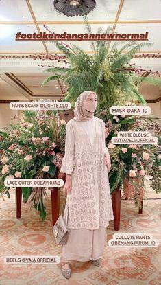 Hijab Dress Party, Muslim Wedding Dresses, Wedding Hijab, Casual Hijab Outfit, Ootd Hijab, Lace Outfit, Korean Girl Fashion, Muslim Fashion, Online Shop Baju