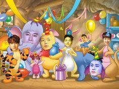 Highest Rank 1 in 1 in 1 in Ikon Wallpaper, Music Wallpaper, Memes Funny Faces, Funny Kpop Memes, Ikon Leader, Yg Artist, Ikon Kpop, Ugly Faces, Kim Hanbin
