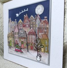 Holiday Home frame - show entry side view out of the frame by Lynn Donnelly Holiday Home Frame - sho Christmas Crafts 2016, Christmas Mom, Stampin Up Christmas, Christmas Projects, Card Making Inspiration, Christmas Inspiration, Making Ideas, Holiday Cards, Christmas Cards