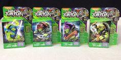 Teenage Mutant Ninja Turtles Out of The Shadows Figures Mega Bloks Set Of 4 TMNT #MegaBloks