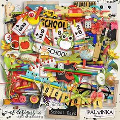 School Days Kit by Palvinka Designs | Digital Scrapbook @ at The Digichick
