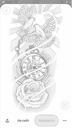 Half Sleeve Tattoo Stencils, Half Sleeve Tattoos Drawings, Half Sleeve Tattoos Designs, Forearm Sleeve Tattoos, Best Sleeve Tattoos, Clock Tattoo Design, Tattoo Design Drawings, Anchor Tattoo Design, Tattoo Sketches
