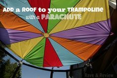 Add a roof to your trampoline in minutes with a play parachute ...