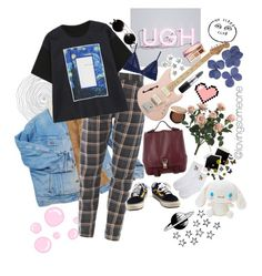 """""""ugh"""" by lovingsomeone on Polyvore featuring WithChic, Proenza Schouler, Vans, Eberjey, MAC Cosmetics, Too Faced Cosmetics, Strange Days and tarte"""