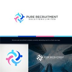 Modern & creative Job Recruitment company Logo Blues,Designers choose,Dark neutrals Business & Consulting by DesignSketch99
