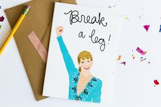 break a leg! card | tay ham