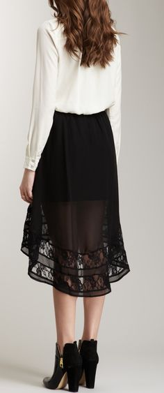 Lace High-Low skirt. I love!