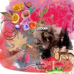 Fallish Doodle 2, Digital Scrapbooking, Painting, Doodles, Art, Artsy, Orange Color