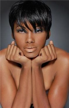 Short hairstyles for black women with round faces 2014