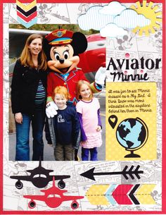 Aviator Minnie - Scrapbook.com