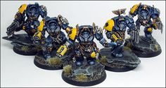 40k - Wolf Guard Terminators by Peter Austin