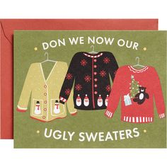 Ugly Sweaters A2 Holiday Cards - Paper Source  For school