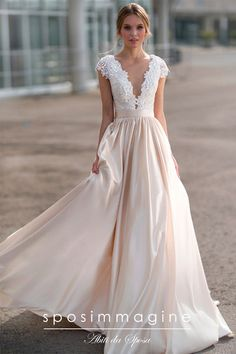 Gorgeous Tulle & Satin Bateau Neckline A-line Wedding Dress With Lace Appli… NEW! Gorgeous Tulle & Satin Bateau Neckline A-line Wedding Dress With Lace Appliques & Flowers & Beadings Perfect Wedding Dress, Dream Wedding Dresses, Bridal Dresses, Wedding Gowns, Bridesmaid Dresses, Tulle Wedding, Wedding Flowers, Wedding Ceremony, Aline Wedding Dress Lace