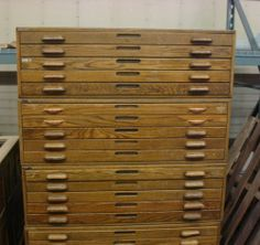 Lovely Architectural Flat File Cabinet