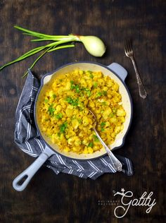 Wegańska kalafiornica Vegan Vegetarian, Recipies, Curry, Dinner, Vegetables, Fitness, Cooking, Ethnic Recipes, Health