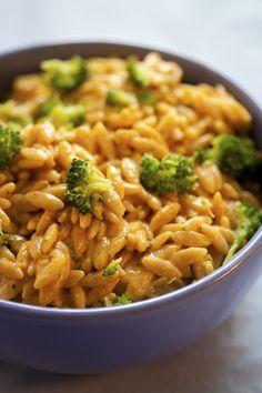 Cheezy Broccoli Orzo - My Vegan Cookbook