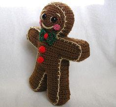 GINGERBREAD BOY PDF Crochet Pattern by bvoe668 on Etsy, $5.00
