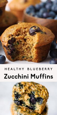 Delicious, easy to make healthy blueberry zucchini muffins! Healthy Desayunos, Healthy Baking, Healthy Desserts, Healthy Recipes, Dinner Healthy, Healthy Veggie Snacks, Healthy Blueberry Recipes, Vegetarian Recipes, Baby Food Recipes