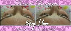 Beaute Boutique - full set of natural individual eyelash extensions xx