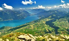 Thunersee / Brienzersee, in the middle the Interlaken, Switzerland