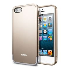 Spigen Linear EX Works with Apple iPhone Case - Metal Blue Iphone 5s, Iphone Cases, Create Your Own Website, 5s Cases, Cell Phone Accessories, Champagne, Apple, Metal, Gold