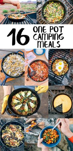 Easy to cook and easy to clean, these one pot camping meals and recipes are perfect for camping.  Not all are VEGETARIAN #CampingTents101