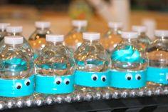 Mini water bottles-But instead do little green alien eyes