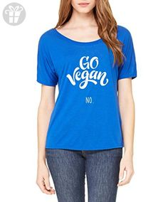 Ugo Go Vegan No. Christmas Birthday Family Party Gift Match w Hats Bags Jeans Women's Slouchy T-Shirt - Birthday shirts (*Amazon Partner-Link)