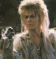 David Bowie in Labyrinth-I'm sorry David was a little creepy with those tight pants, but we loved this show. My siblings and I watched it over and over.