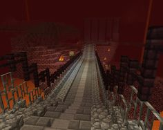 Path building in the nether #minecraft