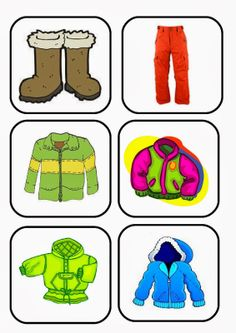 Body Preschool, Preschool Colors, Winter Activities For Kids, Math For Kids, Flashcards For Kids, Kids English, Vocabulary Activities, Winter Theme, Clipart