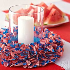 Flag-Theme Centerpiece
