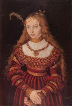Lucas Granach the Elder - Portrait of Sibylle of Kleve, sister to the fourth wife of Henry VIII