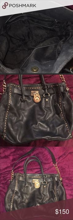 Pre-Loved MK Black leather purse 100% Authentic and Still lots of Life. leather shows signs of wear but no Damage! MKM Designs Bags Hobos