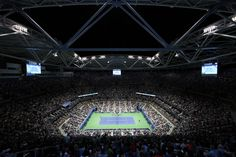 R3 Men's Singles under the lights at Arthur Ashe