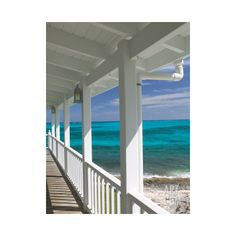 Porch View of the Atlantic Ocean, Loyalist Cays, Abacos, Bahamas... ($40) ❤ liked on Polyvore featuring home, home decor, wall art, ocean wall art, sea home decor, ocean home decor and interior wall decor