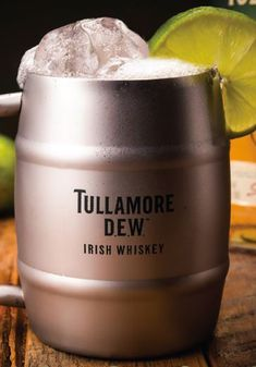 The Irish Mule: 2 oz Tullamore D.E.W. Irish Whiskey, Goslings Ginger Beer, 1 lime wedge, 1 mint sprig, optional. Squeeze lime wedge and drop into a copper mug. Add ice and whiskey and top with ginger beer; stir gently. Garnish with mint, if desired. Cocktail Recipes, Cocktails, Copper Mugs, Good Spirits, Lime Wedge, Irish Whiskey, Ginger Beer, Fine Wine, Alcoholic Drinks