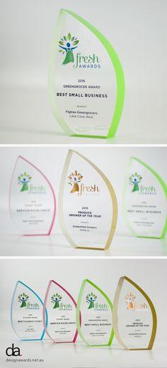 Sydney Markets Fresh Awards | Bespoke Trophies #custommade #trophy #design…