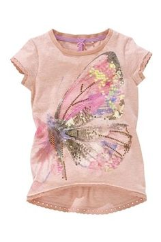 Buy Sequin Printed Butterfly T-Shirt (3-16yrs) from the Next UK online shop
