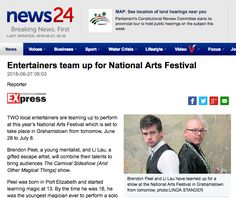 Two local entertainers are teaming up to perform at this year's National Arts Festival which is set to take place in Grahamstown from tomorrow, June 28 to July 8