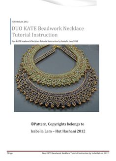 Isabell Lam - DUO KATE SuperDuo Beadwork Necklace Pdf tutorial instructions, $19.00, via Etsy.