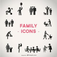 Familie Vektor-Icons gesetzt
