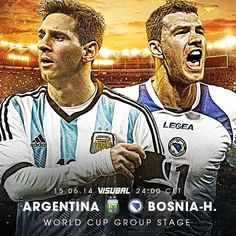 Match of the day: Argentina vs. Bosnia and Herzegovina! What are your predictions? #WorldCup #Messi #Dzeko